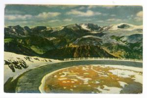 Spokane, Washington to Wichita, Kansas 1958 used linen PC, Beartooth Mountains