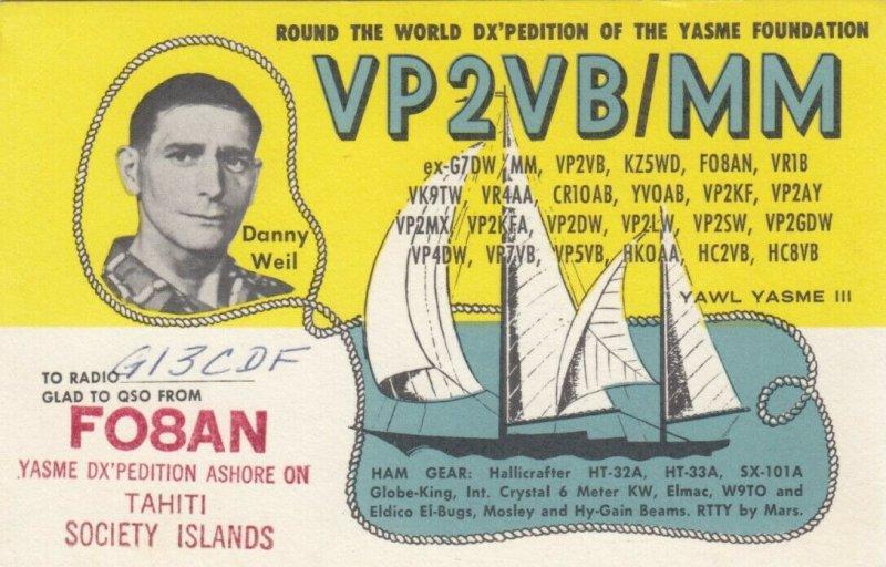 TAHITI , 1962 ; Yasme Foundation DX'PEDITION