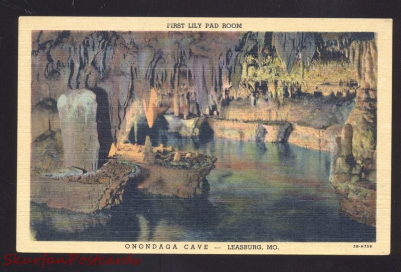 LEASBURG MISSOURI ROUTE 66 ONONDAGA CAVE INTERIOR LILY PAD ROOM POSTCARD