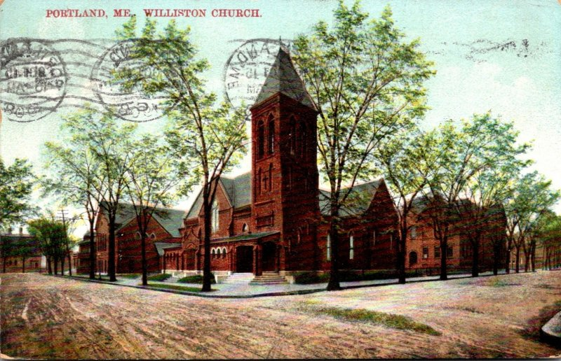 Maine Portland Williston Church 1908