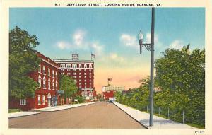 Linen of Jefferson Street Looking North Roanoke Virginia VA