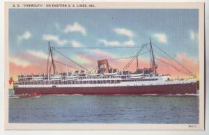 P214 JL old postcard ship SS yarmouth eastern s.s. lines inc