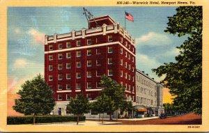 Virginia Newport News The Warwick Hotel 1950 Curteich