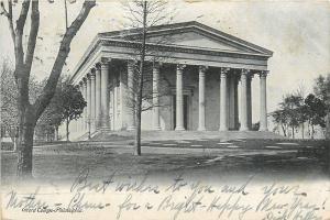 Philadelphia Pennsylvania~Girard College~Campus Lawn~1908 B&W Postcard