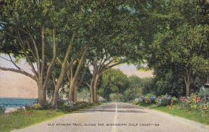 Mississippi Biloxi Old Spanish Trail Along The Mississippi Gulf Coast 1951