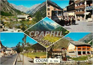 Modern Postcard Greetings from Cogne