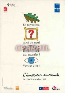 Modern Postcard Invitation to the museum in 1995 FNAC France Culture Savingsb...