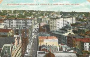 Providence RI~Westminster Street Birdseye~From Union Trust Building~1908