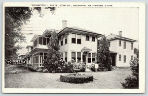 Savannah GA~Poinsettia House~Twin Bed Toilet Locked Garage $2~1940 B&W Linen