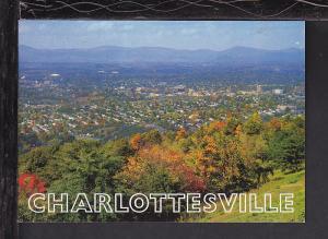 Bird's Eye View,Charlottesville,VA Postcard BIN