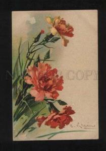 052497 Charming CARNATIONS by C. KLEIN vintage PFB Publ. pc