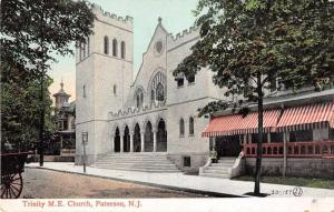 Paterson New Jersey Trinity ME Church Antique Postcard J54417