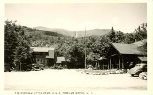 NH - Pinkham Notch. Appalachian Mountain Club Camp. Shorey Photo.   *RPPC