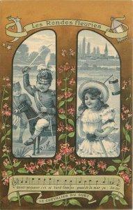 France Patriotic Children Song Artist impression C-1910 Postcard 21-10509