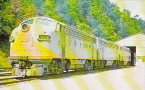 Trains Clinchfield Railroad Locomotive No 814 Being Serviced At Dante Virgini...
