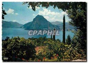 Modern Postcard Lugano Motivo con S Salvatore