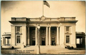 1915 PPIE San Francisco Expo RPPC Photo Postcard KANSAS STATE BUILDING Unused
