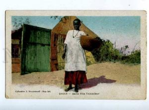 203208 Senegal DAKAR Young Girl Tukulor Vintage postcard