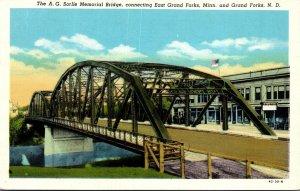 North Dakota Grand Forks A G Sorlie Memorial Bridge Curteich