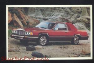1980 MERCURY COUGAR XR-7 VINTAGE CAR DEALER ADVERTISING POSTCARD