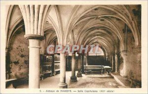 Postcard Abbey Hambye Hall Chapterhouse (twelfth century)