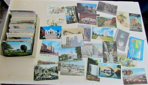 POSTCARDS RANDOM LOT OF 50 ANTIQUE & VINTAGE US & FOREIGN VIEWS & GREETING CARDS