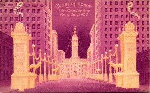 Pennsylvania Philadelphia Court Of Honor Elks Convention July 1907