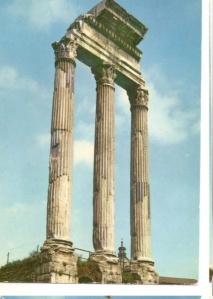 Postal 046880 : Roma. Temple of Castor and Pollux in the Roman Forum