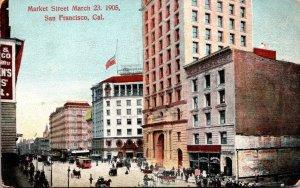 California San Francisco Market Street 23 March 1905