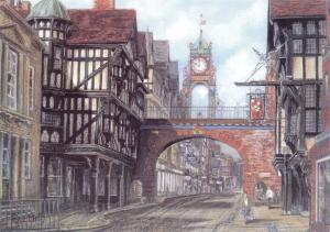 Postcard Art Eastgate, Chester, Cheshire by Sue Firth Large 170x120mm