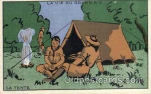 La Tente, Boy & Girl Scouts, Scout, Scouting, Postcard Postcards  La Tente