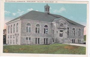 Vermont Middlebury McCullough Gymnasium Middlebury College