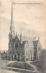 LPS45 Mansfield Ohio OH Postcard First Congregational Church