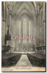 Toul Postcard Old Cathedral (inside)