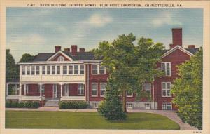Davis Building Nurse's Home Blue Ridge Sanitorium Charlottesville Virginia