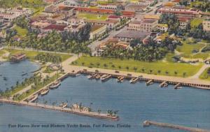 Florida Fort Pierce New and Modrn Yacht Basin 1952
