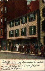 Postcard MA Massachusetts Boston Home of Paul Revere 1906