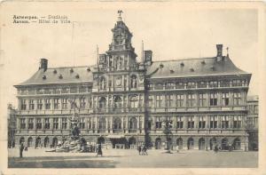 Belgium Belgique Anvers Antwerpen Hotel de Ville Town Hall 1930s