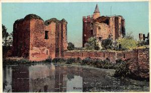 Ruins of Brederode Castle Holland Postcard