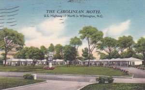 North Carolina Wilmington The Carolinian Motel 1955