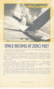 AIR NEW ZEALAND DC-10 Airplane Bi-fold , 1970s