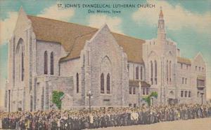 Iowa Des Moines St John's Evangelical Lutheran Church 1950