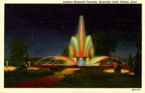 IA - Clinton. Riverview Park, Lubbers Memorial Fountain