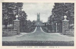 North Carolina Durham Entrance To Campus Duke University Albertype