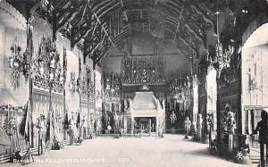 Scotland, UK Old Vintage Antique Post Card Banqueting Hall, Edinburgh Castle ...