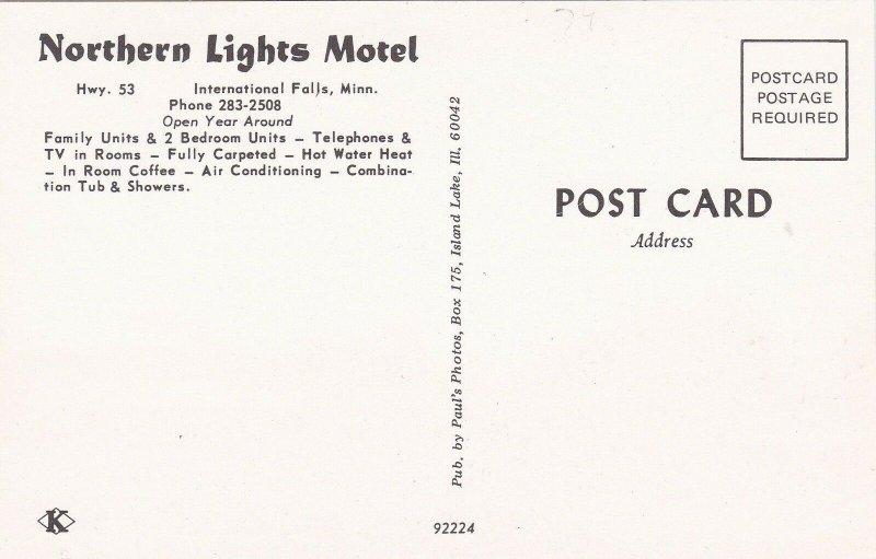 Minnesota International Falls Northern Lights Motel sk6606