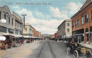 Santa Rosa California 4th Street Looking East Antique Postcard J71014
