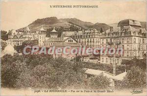 Old Postcard La Bourboule View the post and the Great Hotels