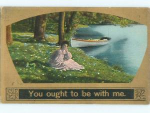Divided-Back PRETTY WOMAN Risque Interest Postcard AA8009