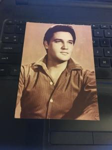 Vintage Postcard - ELVIS Presley , Portrait, button down shirt